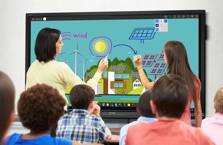 Ứng dụng của màn hình cảm ứng trong học tập