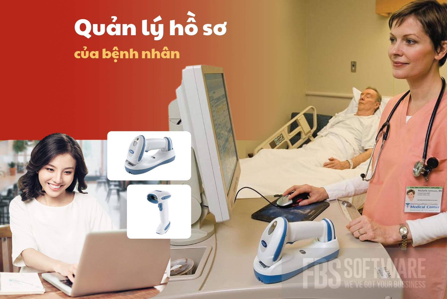 Máy quét mã vạch quản lý hồ sơ cho bệnh viện thietbibanle.com